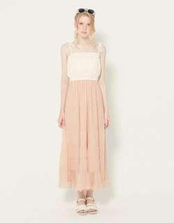 🚚 Lovfee 粉紅雪紡細肩渡假洋裝