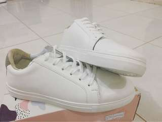 Sneakers White , Grey Suede