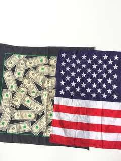 BANDANA USA FLAG & DOLAR MONEY
