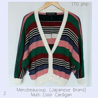 Mercibeaucoup, (Japanese Brand) Multi Color Cardigan