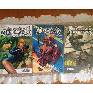 Green Arrow/Black Canary set (plus Green Arrow singles)