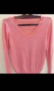 Sweater dewasa pink fit to size M