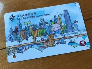 地鐵票(包平郵)