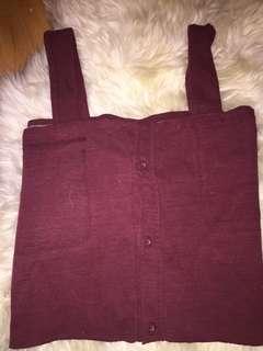 Red/burgundy shirt/tank