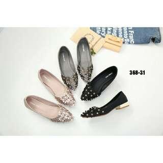 [MONNA VANIA CLOVER FLATSHOES 368-31] Sepatu Fashion Wanita Impor Murah