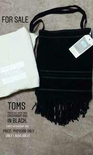 Toms Soft Suede Fringe Crossbody Bag