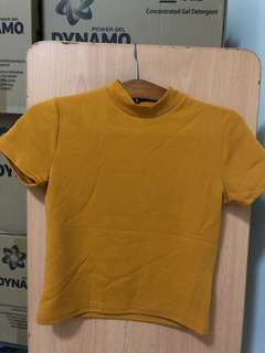Mustard Crop Top