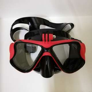 Dive Mask with Mount for GoPro SJCAM etc.