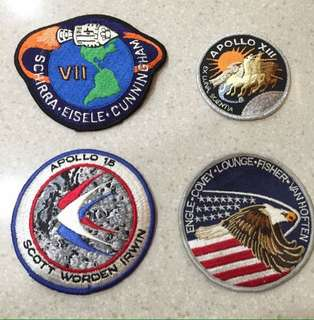 Original Vintage Licensed NASA Apollo Space Mission Program Astronaut Badge Patches From Kennedy Space Centre Crafted In U.S.A🇺🇸