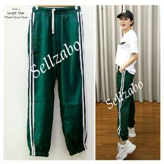L Size Cooling Ruched Track Pants Green Colour Pants Long Trousers Ladies Girls Women Female Sports Exercise #S168