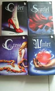 The Lunar Chronicles Cinder Scarlet Cress Winter