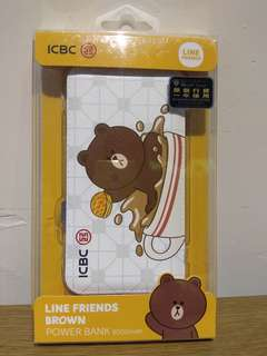 Line Friends Brown 外置充電池8000mAh