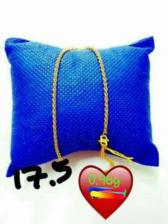 Budget, hollow 916 bracelet only 17.5cm