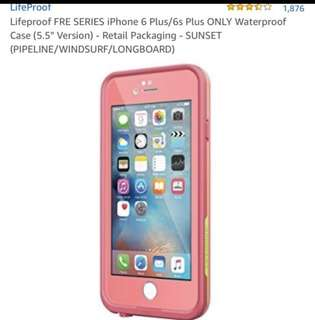 Authentic LIFEPROOF Iphone 6s+ case (*no rubber stopper)
