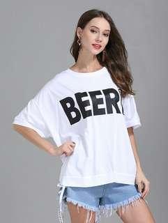 "RCCZG051735 - ""BEER"" Casual T-Shirt"