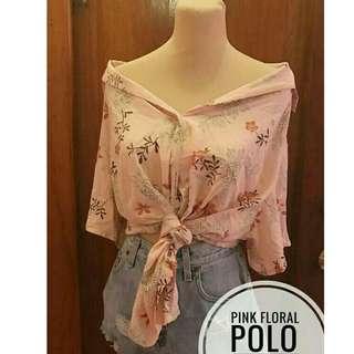 Pink Summer Floral Buttondown