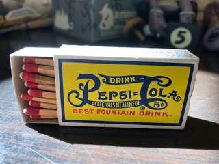 Pepsi 百事可樂 火柴盒