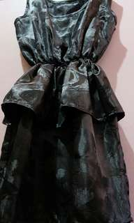 Black dress with flounce