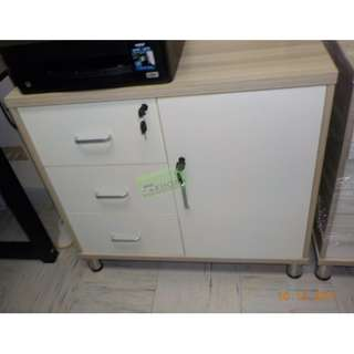 WOODEN SIDE CABINET OAK COLOR--KHOMI