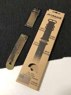 JK UNIQUE CAMO NATO Style Apple Watch Strap 42mm Black Buckle - Multicam Tropic