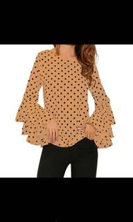 READY STOCK Polka Dot Blouse