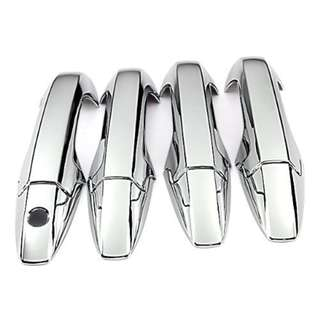Silver Mirror Triple Chrome Door Handle Cover Trims For Honda CR-V CRV 07-11 2007 2008 2009 2010 2011 Brand New 8Pcs