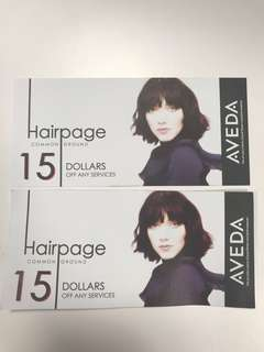 Hairpage Voucher 2x $15