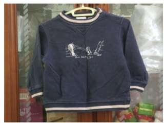 二手~童裝 ESPRIT 香港製 深藍 長袖 T恤 上衣