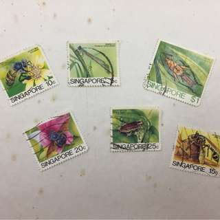 Singapore Insects Stamp Loose Set