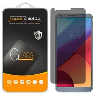 [2-Pack] Supershieldz for LG G6 Privacy Anti-Spy Tempered Glass Screen Protector, Anti-Scratch, Anti-Fingerprint, Bubble Free, Lifetime Replacement Warranty