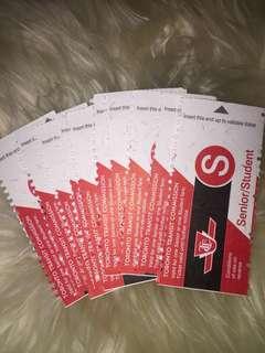 11 bus tickets!