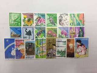 Assorted Japan Stamps Loose Set