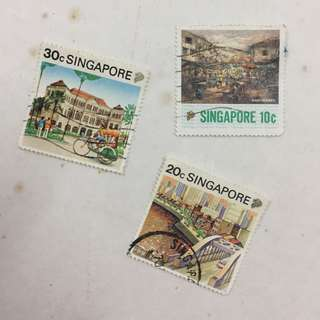 Singapore Places Loose Stamp Set