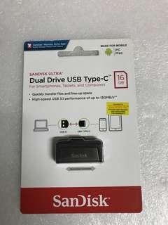 Dual drive USB type-C new 16GB