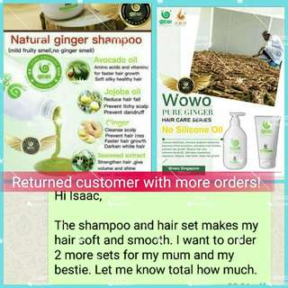 Wowo Pure Ginger Shampoo and Hair Mask