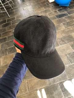 Authentic GUCCI cap black size S