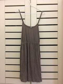Light Brown Spaghetti-strap Dress