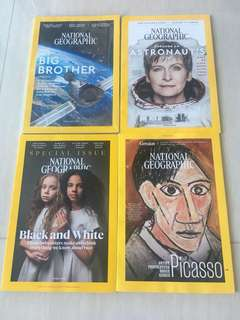 National Geographic (Feb-May 2018) 4 books