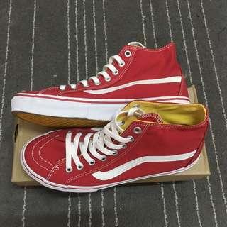 Vans hi old skool 紅 白 帆布 滑板鞋 era authentic sk8-hi