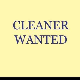 part time cleaner wanted (female only)