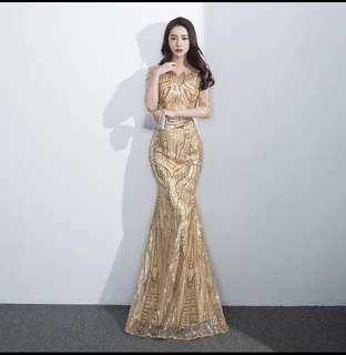 Evening Gown - Gold