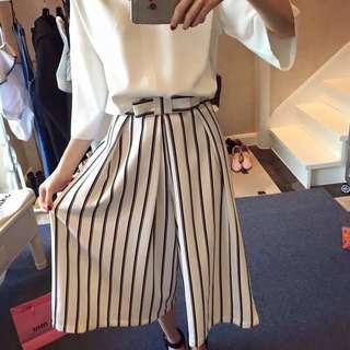 🚚 韓款條紋褲裙