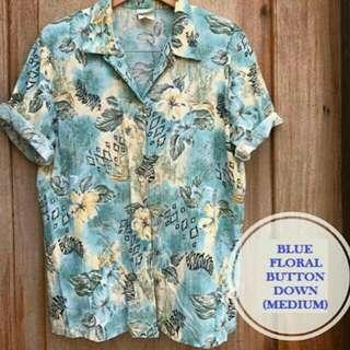 Blue Summer Floral Buttondown