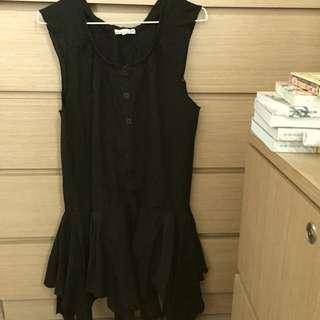 K-2 黑色連身裙/長top