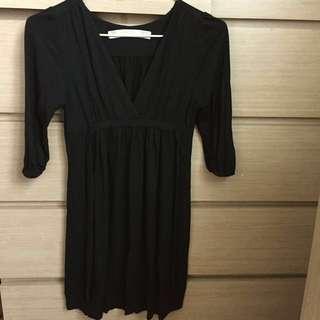 Zara黑色連身裙/長top