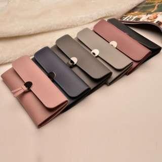 (13)Women PU Leather Clutch Wallet Long Card Holder Case Purse Bag