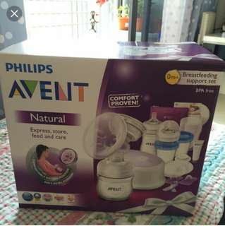 AVENT electric breast pump gift set