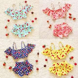 預購-H003 夏季新款韓版女童寶寶比基尼泳裝泳衣 女童泳裝