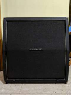 """Tech21 Trademark Series 412TM 4x12 Celestion England 12"""" Speaker Cabinet For Electric Guitar Amplifier Head USA made Discontinued Rare Cheap"""