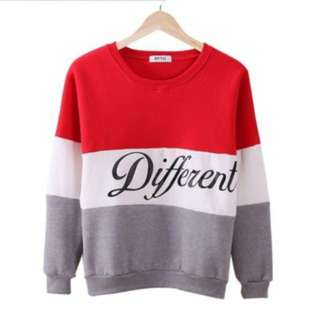 (17)Women Fashion Alphabet Sweatshirt Cotton Hoodie Sweatshirts Top